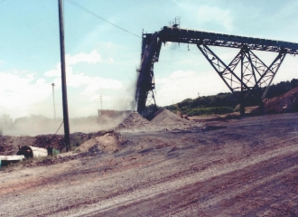 Peabody Coal Co. #9 North Sunnyhill U.G. Mine track entry, 1985.