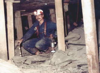 Peabody Coal Co. #9 South Sunnyhill U.G. Mine, Mark Wharton- Getting ready to inspect this mine for  Ohio Division Of Mines, 1985.
